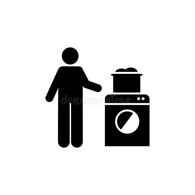 Hotel, mężczyzna, czysta, akcydensowa ikona, Element hotelowa piktogram ikona Premii ilo?ci graficznego projekta ikona znaki i sy ilustracji