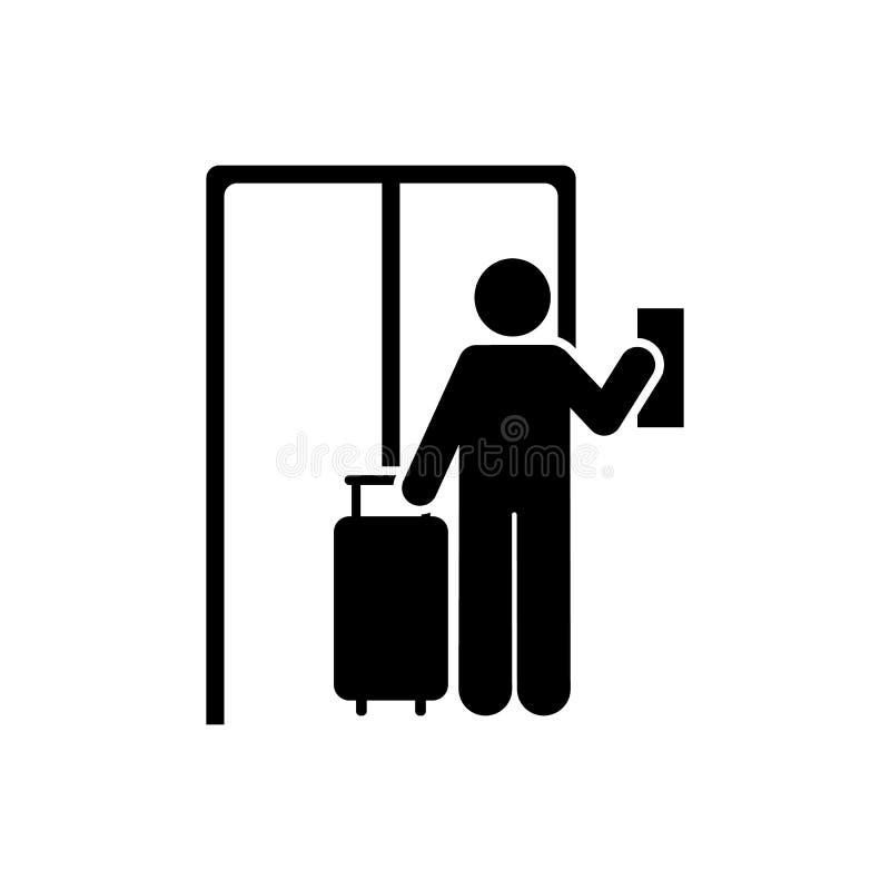 Hotel, mężczyzna, podróży ikona Element hotelowa piktogram ikona Premii ilo?ci graficznego projekta ikona Znaki i symbol kolekci  ilustracji
