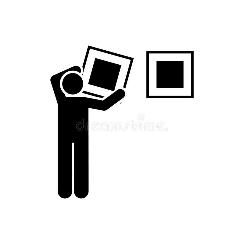 Hotel, mężczyzna, usługi, gosposia, obrazuje ikonę Element hotelowa piktogram ikona Premii ilo?ci graficznego projekta ikona podp ilustracji