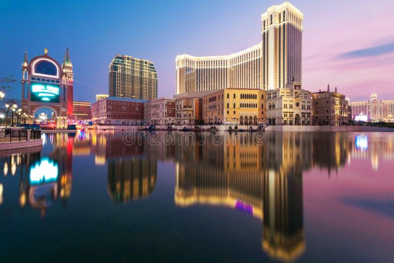 Hotel macau do casino imagens de stock royalty free