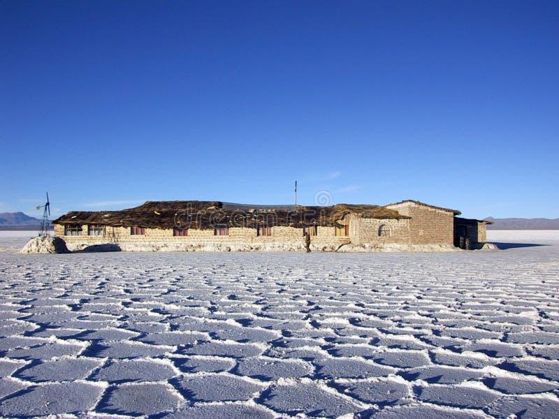 Hotel made of salt stock photo