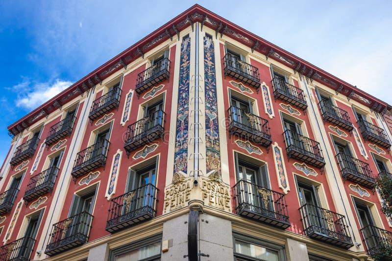 Hotel a Madrid immagini stock libere da diritti