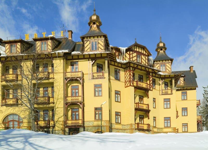 Hotel magnífico en Eslovaquia imagen de archivo libre de regalías