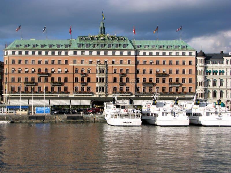 Hotel magnífico en Estocolmo fotografía de archivo