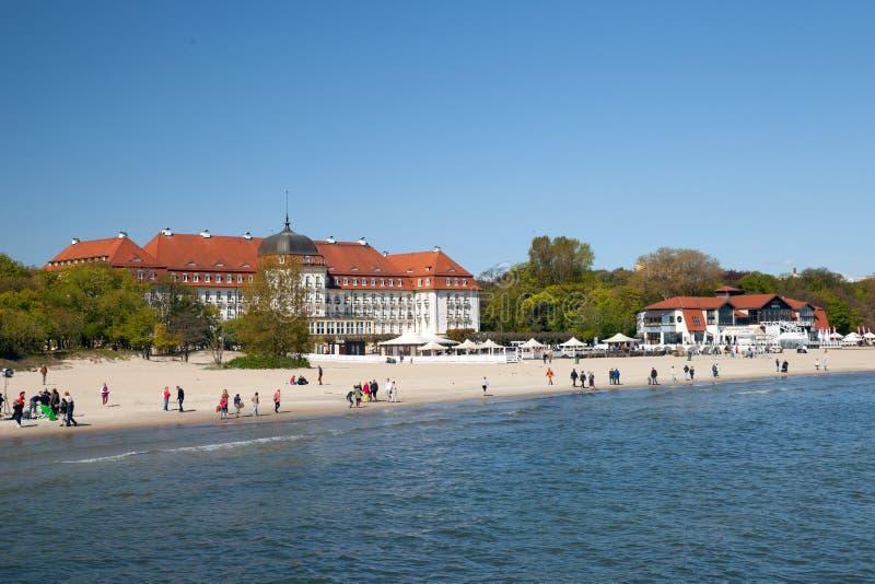 Hotel magnífico en Sopot foto de archivo
