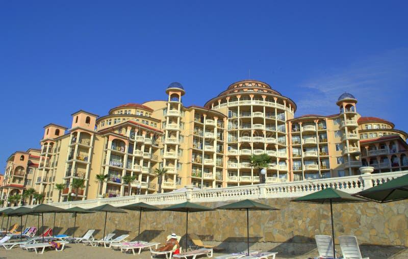 Hotel majestuoso, centro turístico Bulgaria de Elenite fotos de archivo