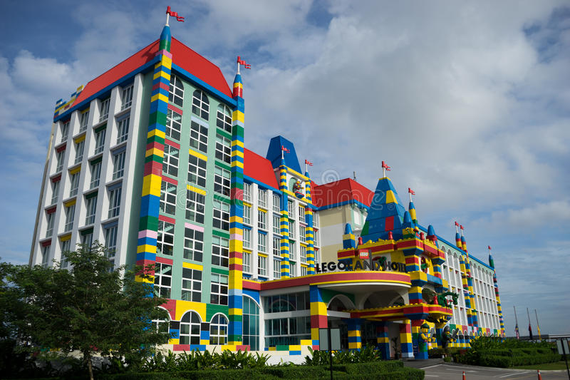 Hotel Malasia de Legoland foto de archivo