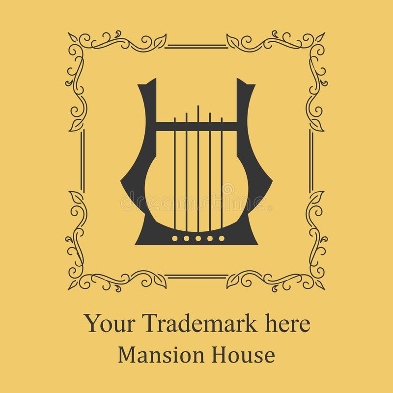 Hotel Mansion Logo stock images