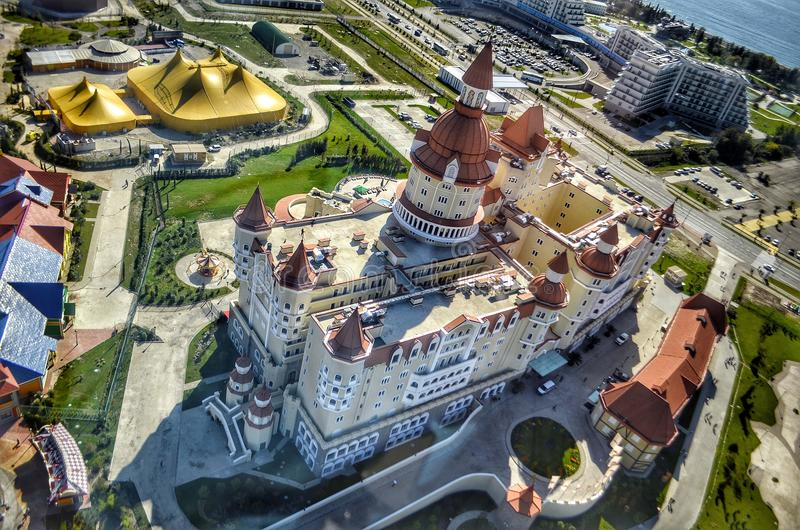 Hotel maravilhoso em Sochi foto de stock