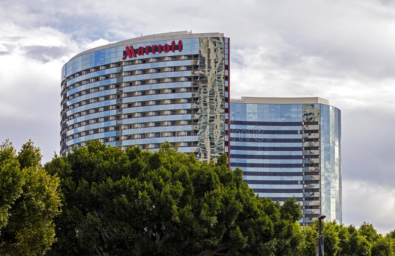 Hotel Marriot in San Diego lizenzfreies stockfoto