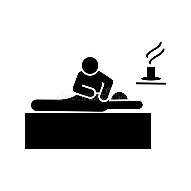 Hotel, massage, services, accommodation icon. Element of hotel pictogram icon. Premium quality graphic design icon. Signs and. Symbols collection icon on white royalty free illustration