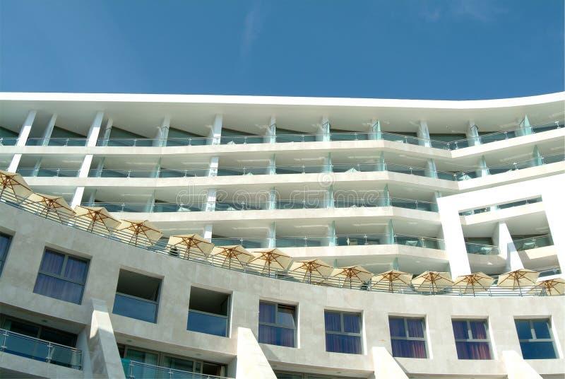 Hotel mediterrâneo dos termas do edifício imagem de stock royalty free