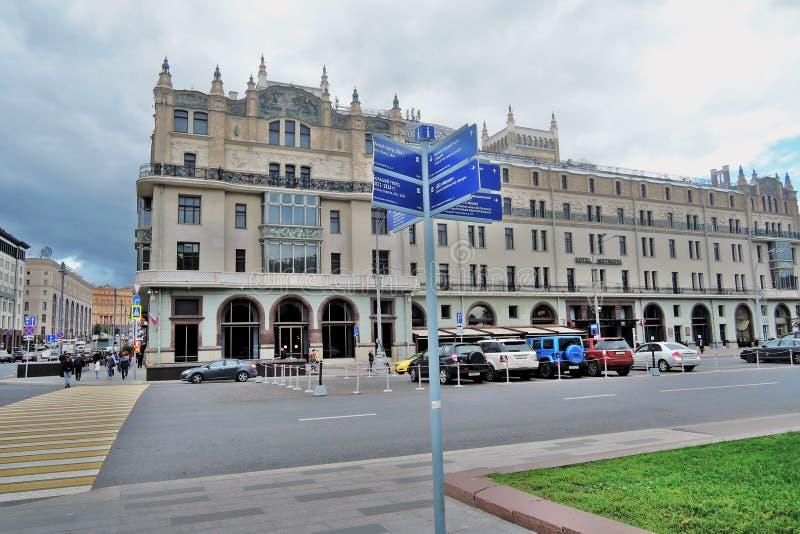 Hotel Metropol, de beroemde historische bouw stock afbeeldingen