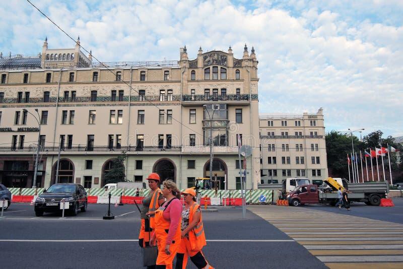 Hotel Metropol, de beroemde historische bouw, luxehotel en restaurant stock fotografie