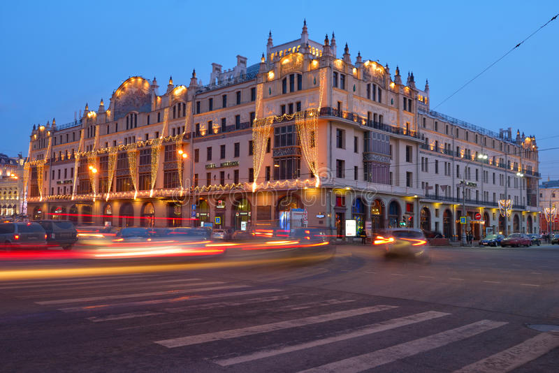 Hotel Metropol in Moscow royalty free stock photography