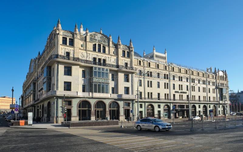 Hotel Metropol in Moskou stock afbeeldingen