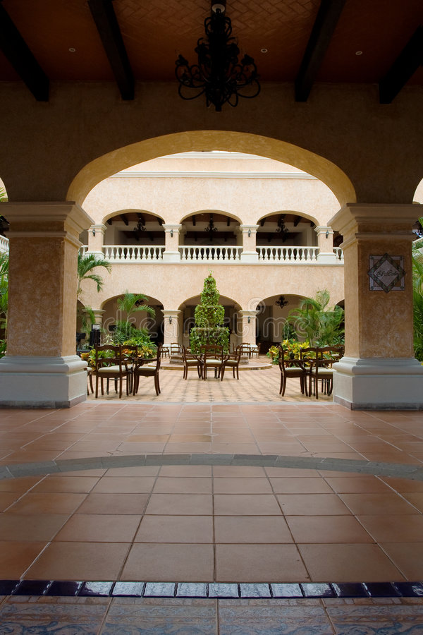 Hotel mexicano - pátio do EL imagens de stock