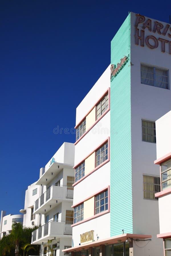 Hotel Miami di Art Deco. immagini stock libere da diritti