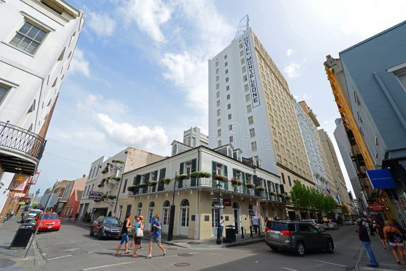 Hotel Monteleone na rua real em Nova Orleães imagens de stock