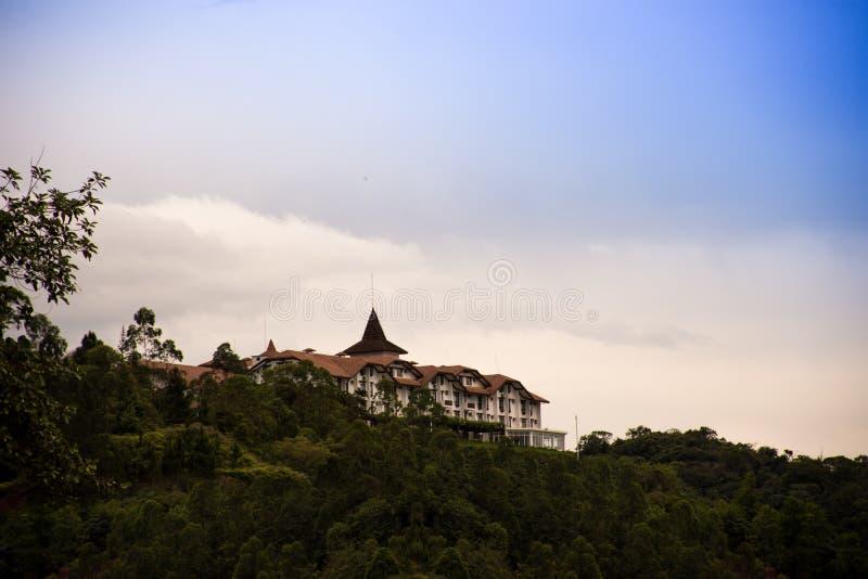 Hotel Monthez - schroff - Santa Catarina, Brasilien stockbild