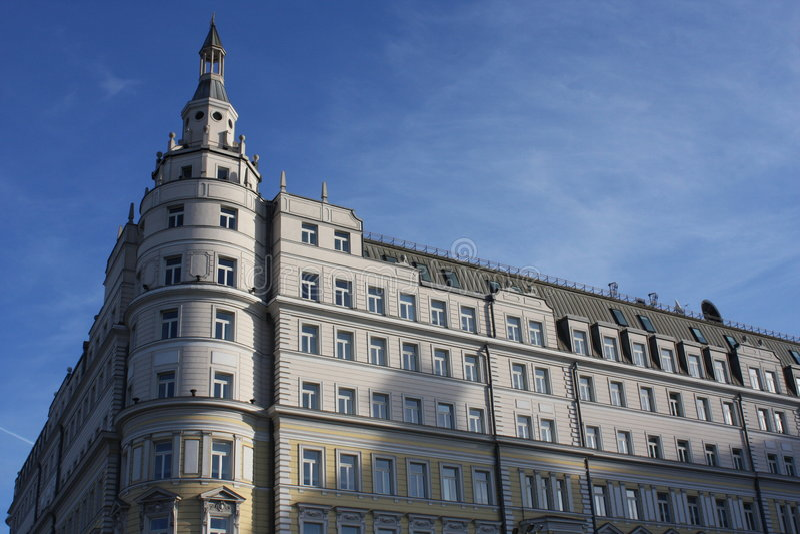 Hotel Moskva stockfotos