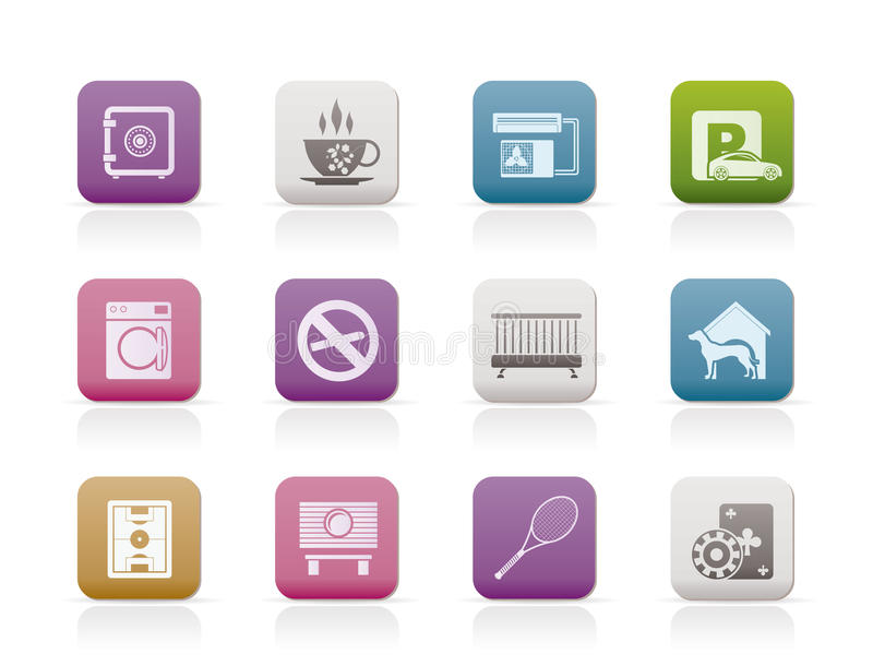 Download Hotel And Motel Amenity Icons Stock Photography - Image: 17448522