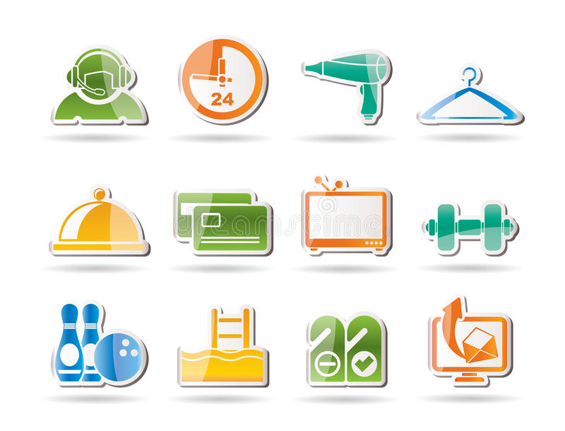 Download Hotel And Motel Amenity Icons Stock Vector - Image: 17687867