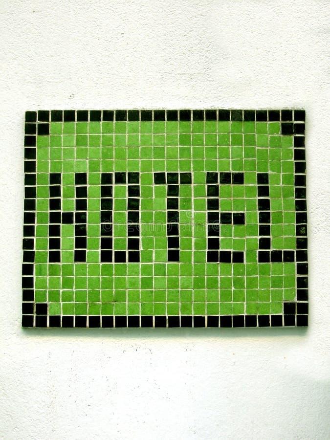hotel mozaika znak obrazy stock