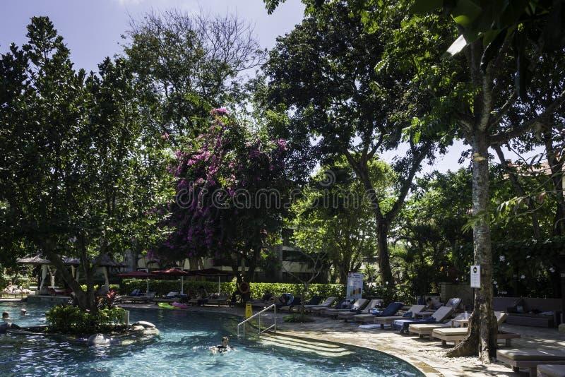 Hotel na Bali w świetle dziennym zdjęcie royalty free