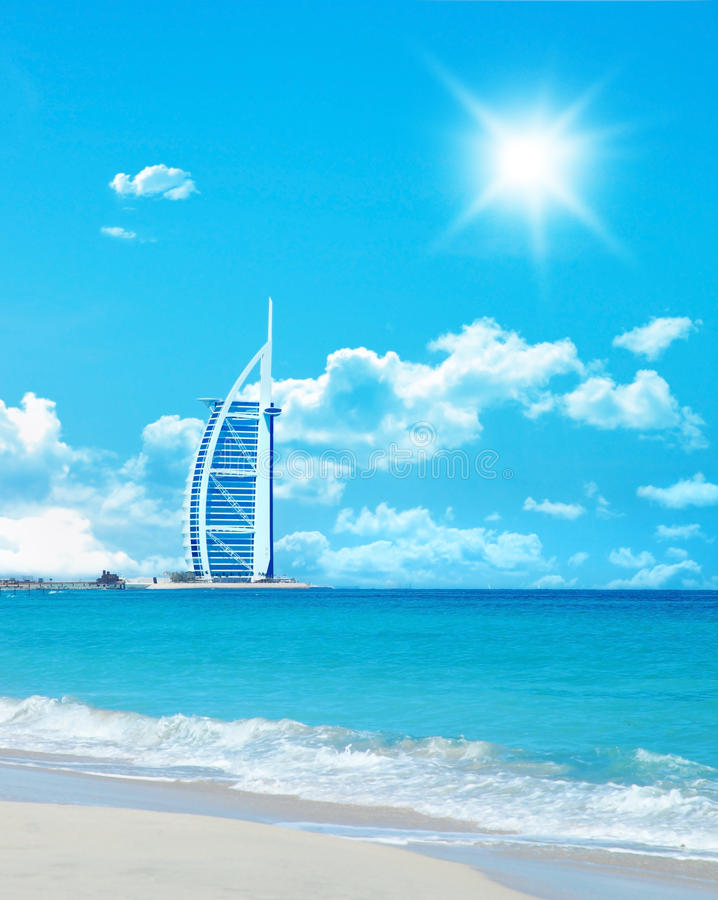 Hotel na praia fotos de stock royalty free
