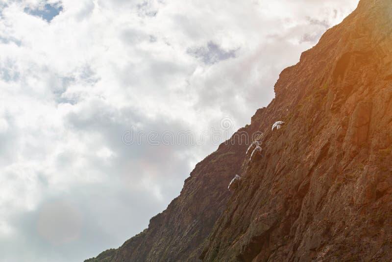 Hotel na skałach w Peru zdjęcia royalty free