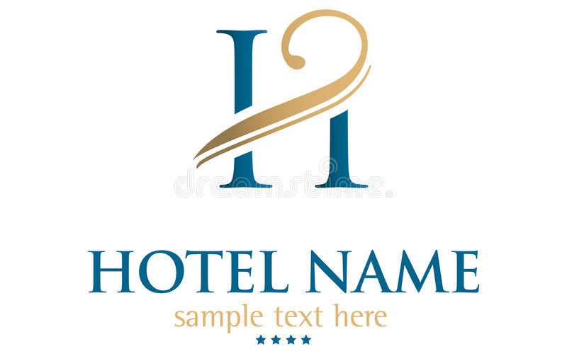 Hotel name. Generic logo designed for hotels
