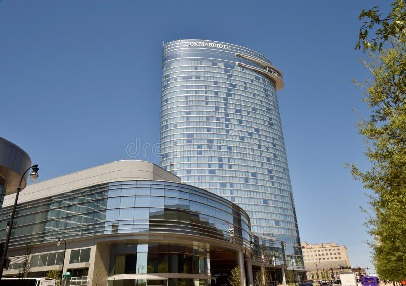 Hotel Nashville do centro de Jw Marriott, Tennessee imagem de stock