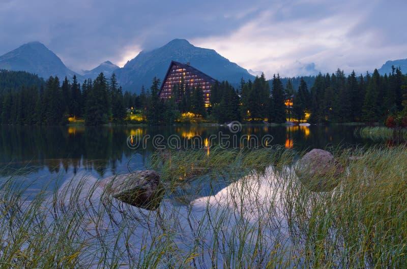 Hotel near the lake royalty free stock photo
