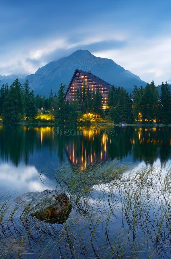 Hotel near the lake royalty free stock image