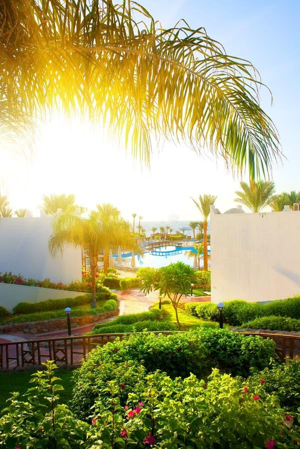 Hotel nell'Egitto fotografia stock