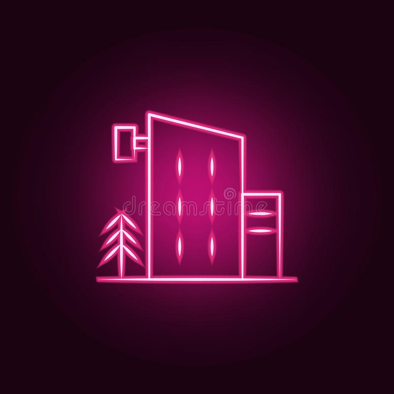 hotel neon icon. Elements of travel set. Simple icon for websites, web design, mobile app, info graphics vector illustration