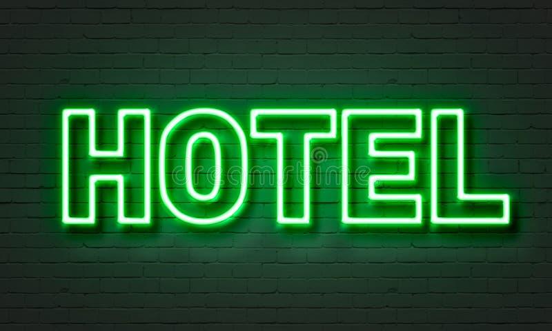 Hotel neon sign stock illustration