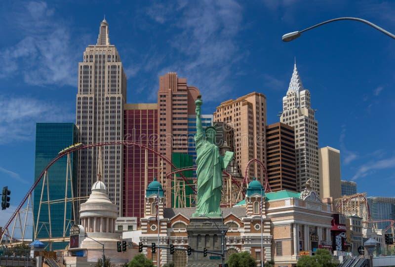 Hotel New York New York na tira de Las Vegas imagem de stock