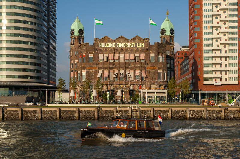 Hotel New York in Rotterdam, Netherlands royalty free stock photos