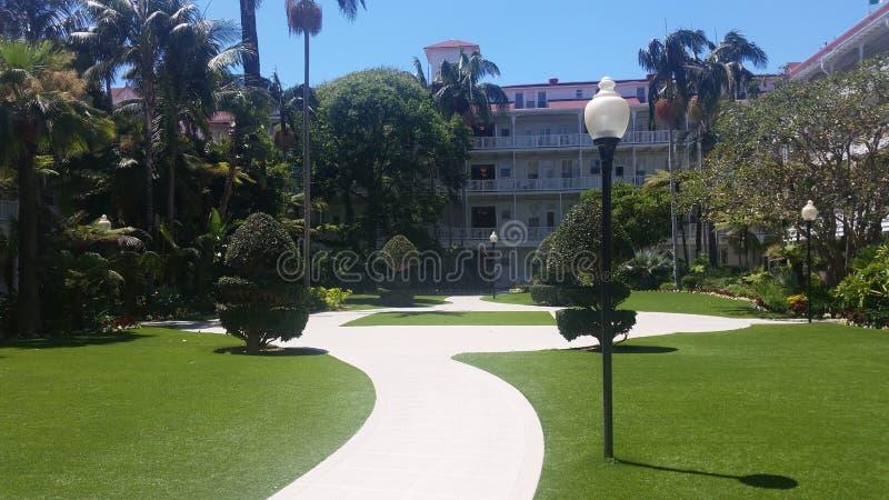 Hotel no perto da praia fotos de stock royalty free