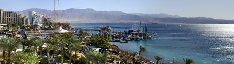 Hotel nordici di ricorso e della spiaggia, Eilat fotografia stock