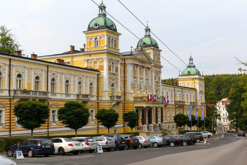 Hotel Nove Lazne and its beautiful architecture stock photos