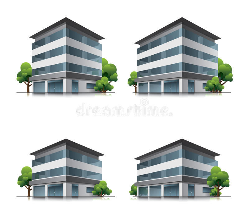 Download Hotel Or Office Buildings With Trees Royalty Free Stock Photo - Image: 32969715