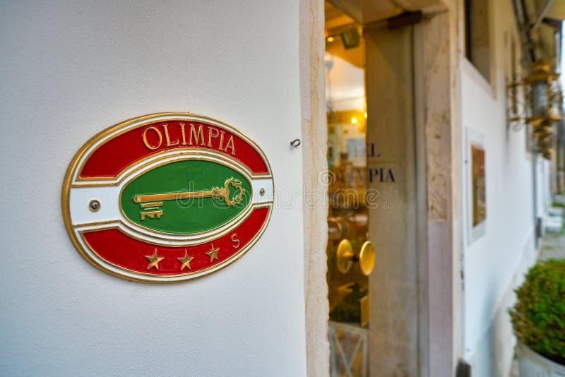 Hotel Olimpia lizenzfreie stockbilder