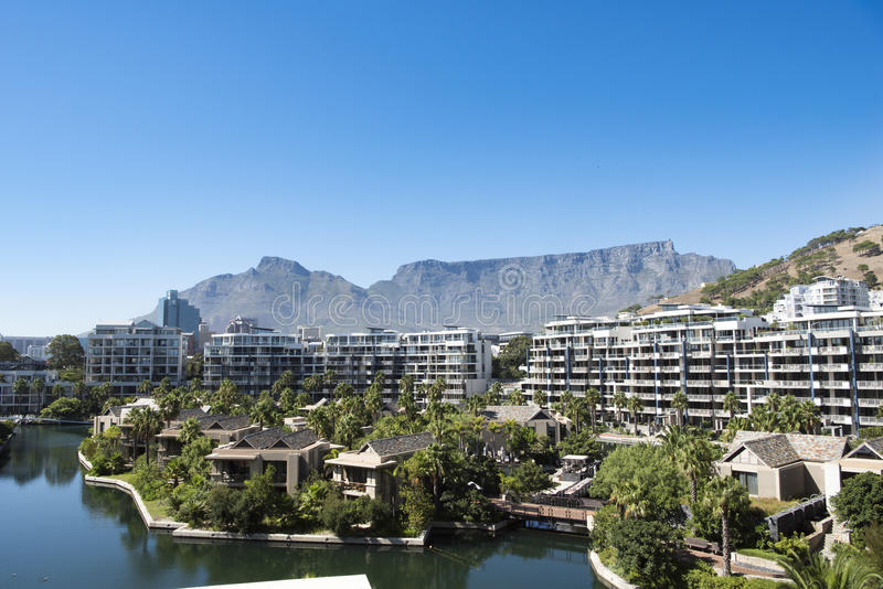Hotel The One and Only Spa and flats, Cape Town royalty free stock photo