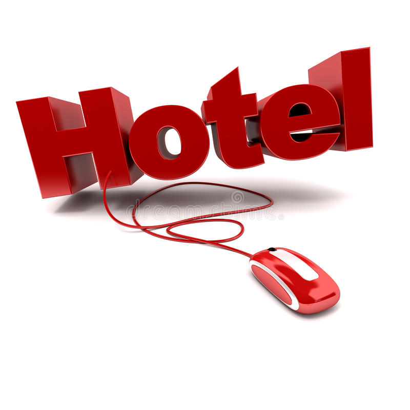 hotel online ilustracji