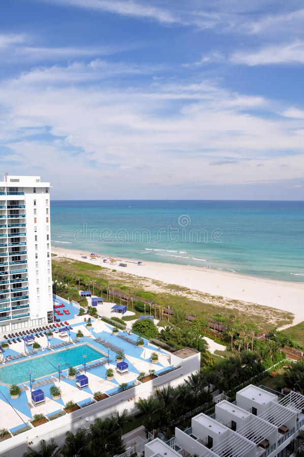 Download Hotel Overlooking The Beach Stock Photo - Image: 12031616