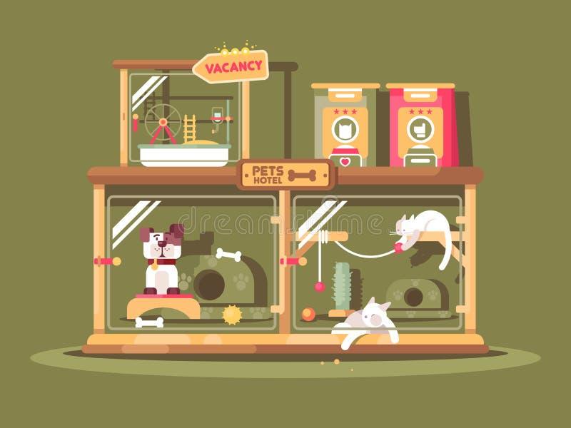 Hotel para animais de estimação ilustração stock