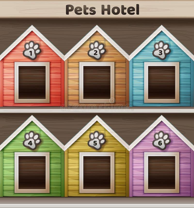 Hotel para animais de estimação ilustração do vetor